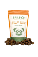 Load image into Gallery viewer, Bailey's - CBD Pet Omega Soft Chews Bacon Flavored 60 Count
