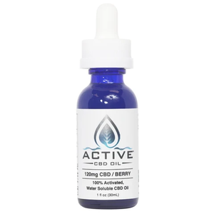 Active CBD Oil - Tincture Water Soluble Berry 120mg