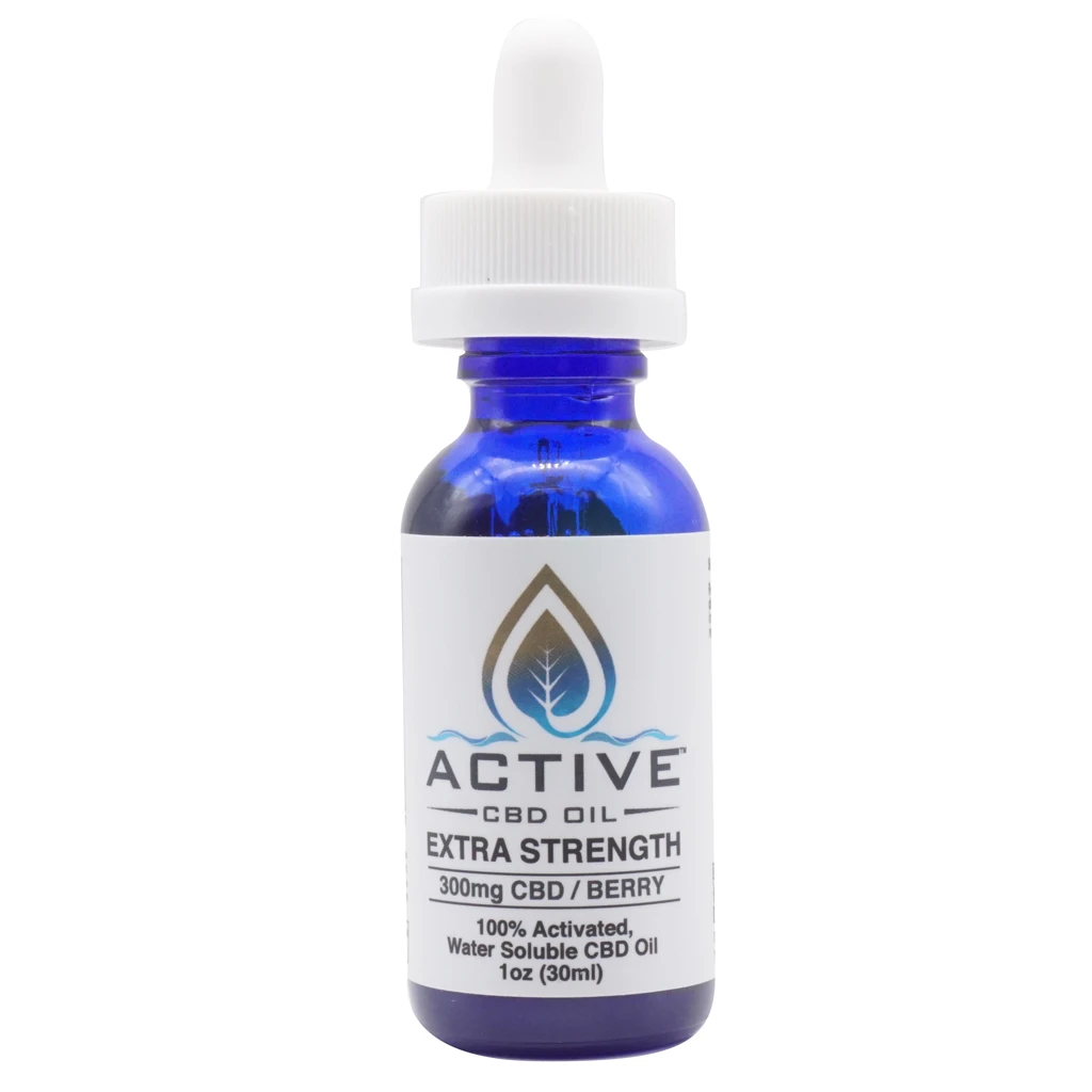 Active CBD Oil - Tincture Water Soluble Berry 300mg