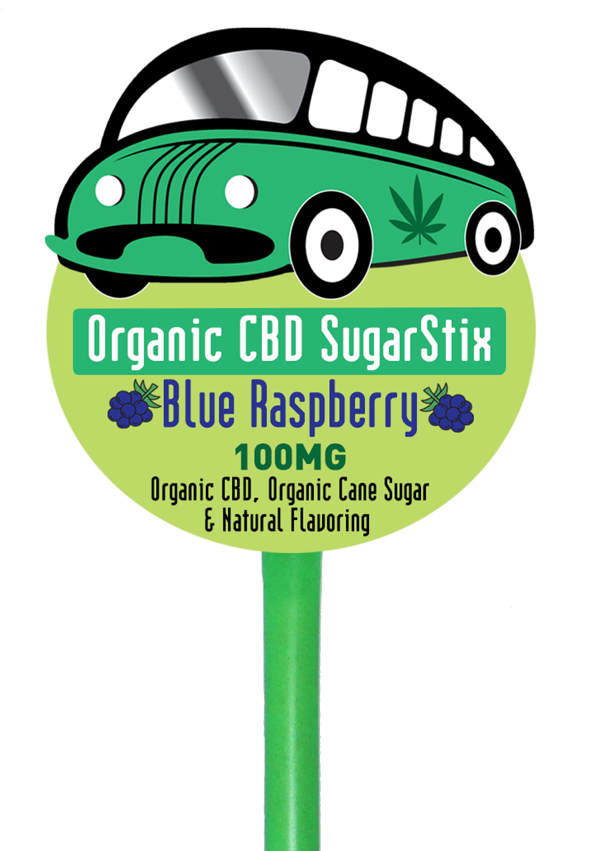 Organabus CBD - Edible SugarStix Blue Raspberry 100mg