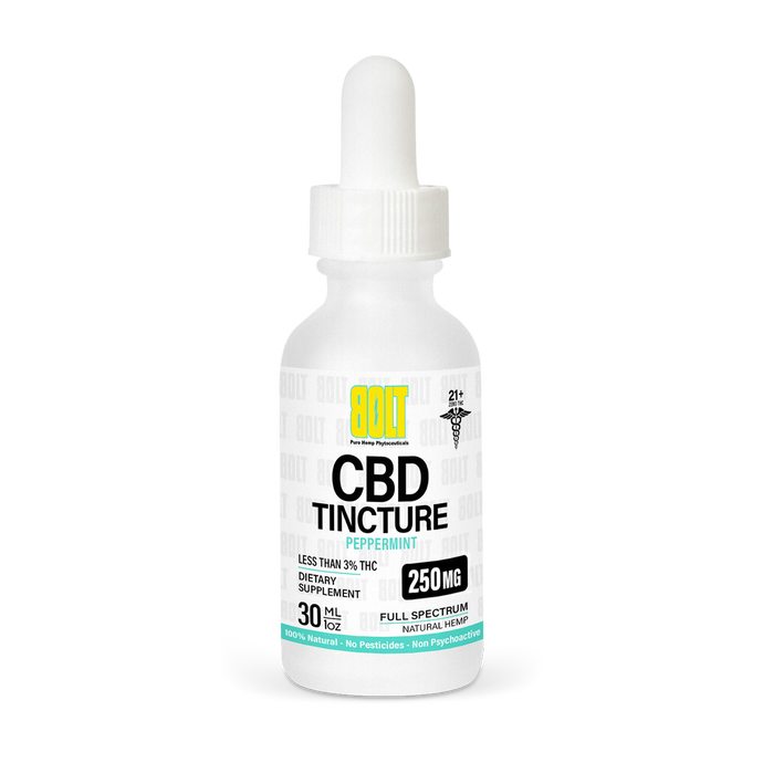 BOLT CBD - Tincture Peppermint 250mg 30ml