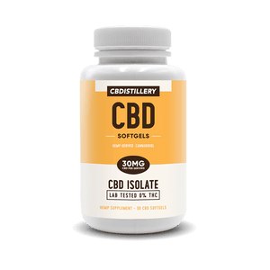 CBDistillery - CBD Capsule Isolate Softgels 30ct