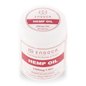 Endoca CBD - Capsule & Pill Hemp Oil Total 30 Caps 1500mg