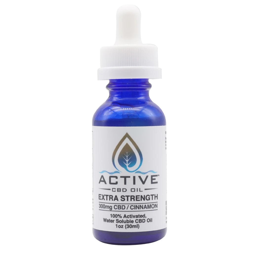 Active CBD Oil - Tincture Water Soluble Cinnamon 300mg