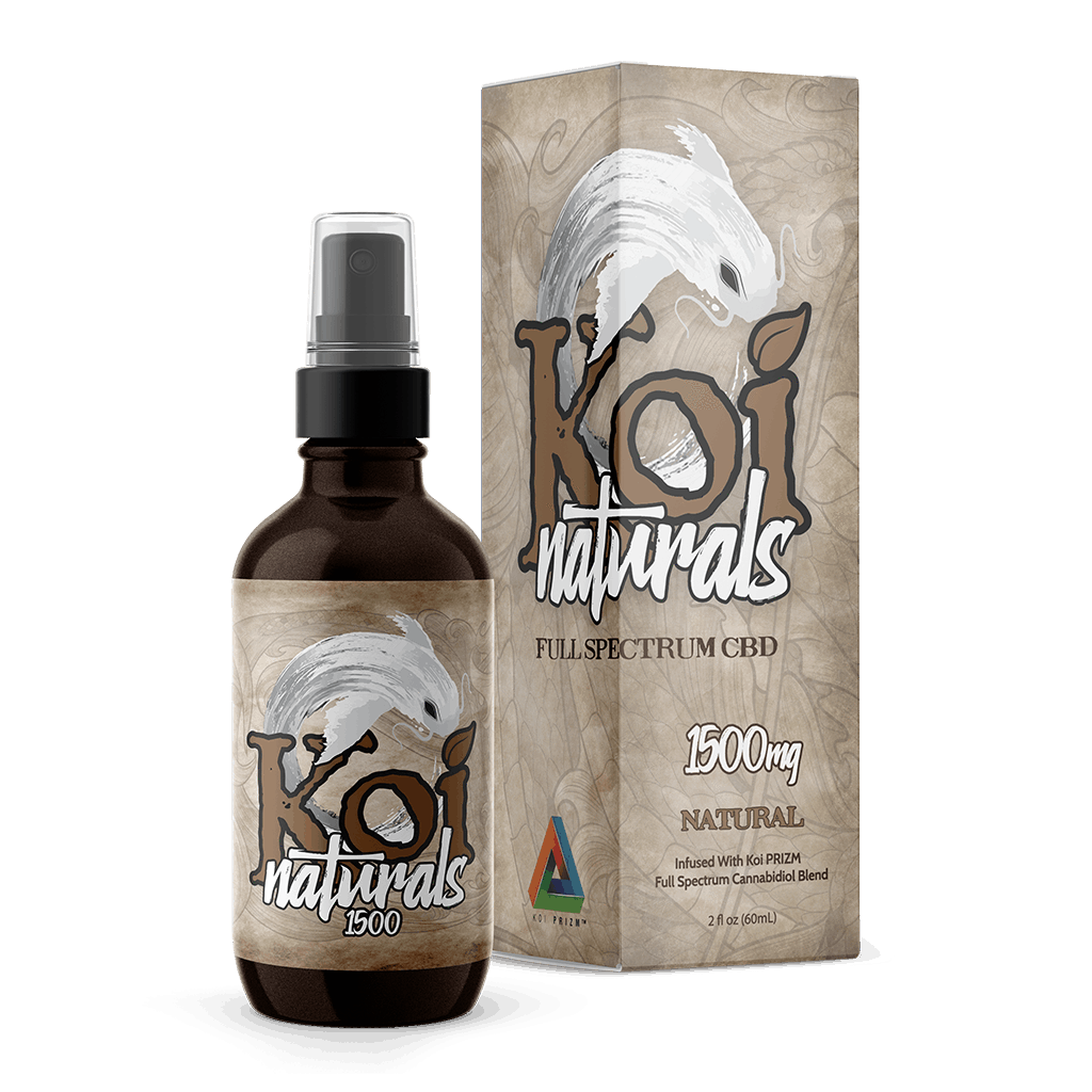 Koi CBD - Spray Naturals Hemp Extract Natural Flavor 60ml