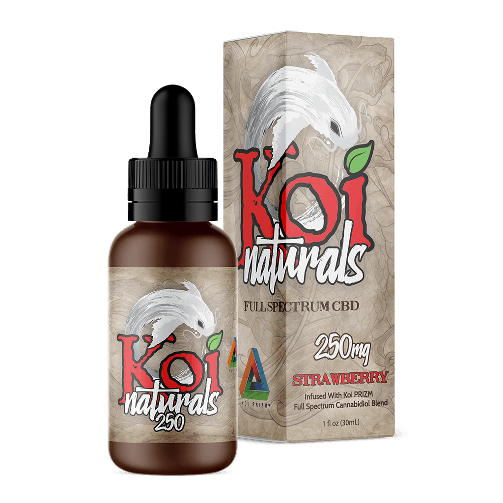 Koi CBD - Tincture Naturals Hemp Extract Strawberry Flavor 30ml