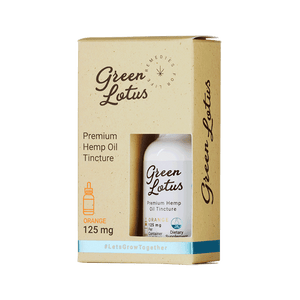 Green Lotus - CBD Tincture Hemp Oil Orange 125mg