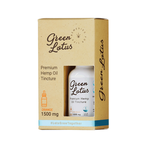Green Lotus - CBD Tincture Hemp Oil Orange 1500mg