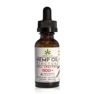 Green Leaf - CBD Tincture Hemp 1100mg Full Spectrum 30ml