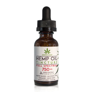 Green Leaf - CBD Tincture Hemp 750mg Full Spectrum 30ml