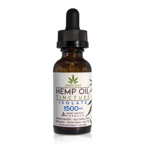 Green Leaf - CBD Tincture Hemp 1500mg Isolate 30ml
