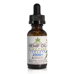 Green Leaf - CBD Tincture Hemp 2500mg Isolate 30ml