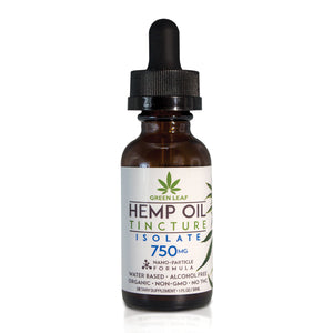 Green Leaf - CBD Tincture Hemp 750mg Isolate 30ml