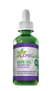 Gone Green - CBD Oil Hemp Pure Isolate 30ml 100mg