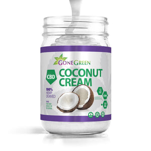 Gone Green - CBD Butter Organic Coconut Cream with Hemp Extract 12oz 120mg