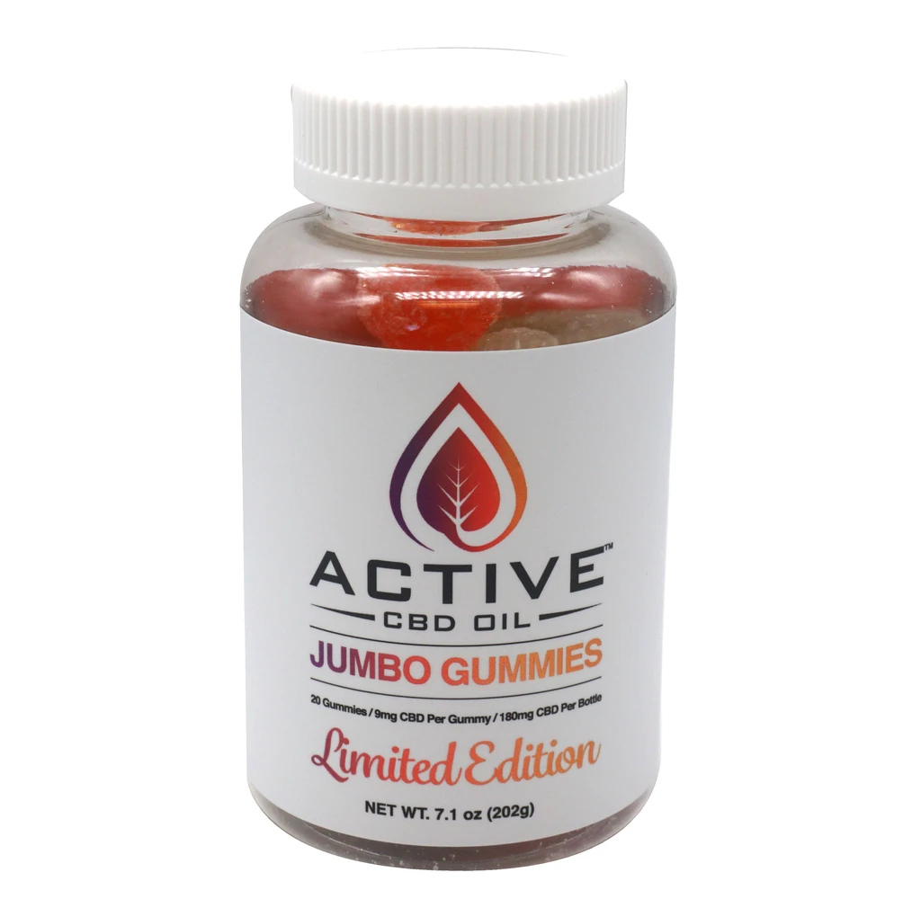 Active CBD Oil - Gummies Jumbo Bottle 20ct
