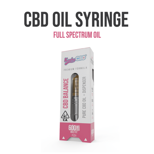 Kushy CBD - Oil Syringe 600mg (1g net weight)
