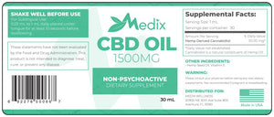 Medix CBD - Oil Tincture Natural Flavor 1500mg