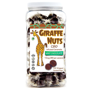 Giraffe Nuts - CBD Edible Caramel Nugs 100 Count 1500mg