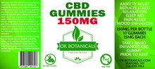 Load image into Gallery viewer, OK Botanicals - CBD Gummies 150mg