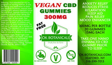 Load image into Gallery viewer, OK Botanicals - CBD Gummies Fat Free Vegan 300mg