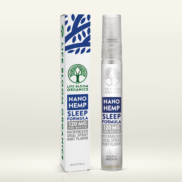 Life Bloom Organics - Hemp Spray Nano Sleep Mint Flavor 120 mg