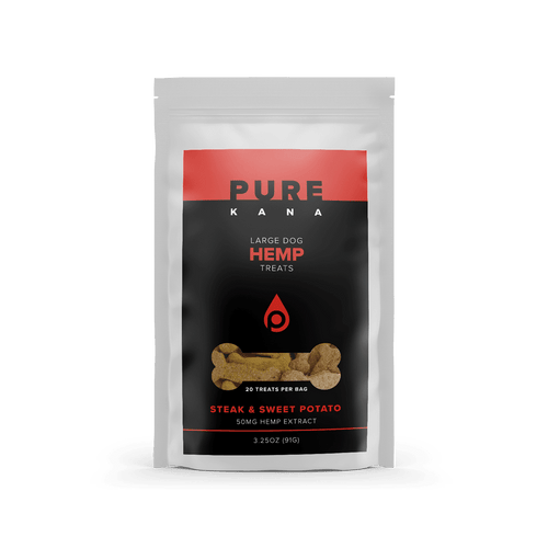 Pure Kana - Hemp Pet Dog Treats Steak & Sweet Potato