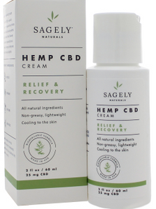Sagely Naturals - CBD Cream Topical 60ml