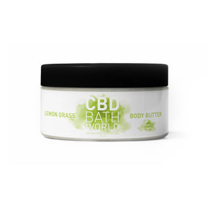 CBD Bath World - Body Butter Lemon Grass 16oz.
