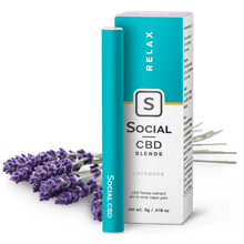 Load image into Gallery viewer, Social CBD - Pen Lavender 250mg/125mg