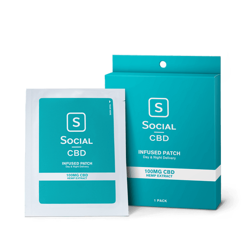 Social CBD - Topical Patch 100mg 1 Pack/3 Pack