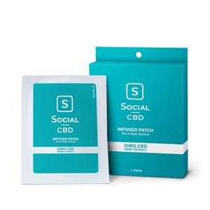 Social CBD - Topical Patch 20mg 1 Pack/3 Pack