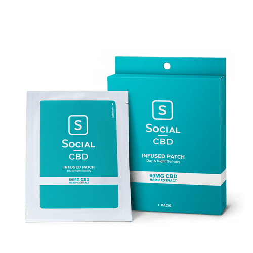 Social CBD - Topical Patch 60mg 1 Pack/3 Pack
