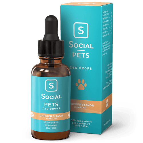 Social CBD - Pets Drops Chicken Broad Spectrum 30ml