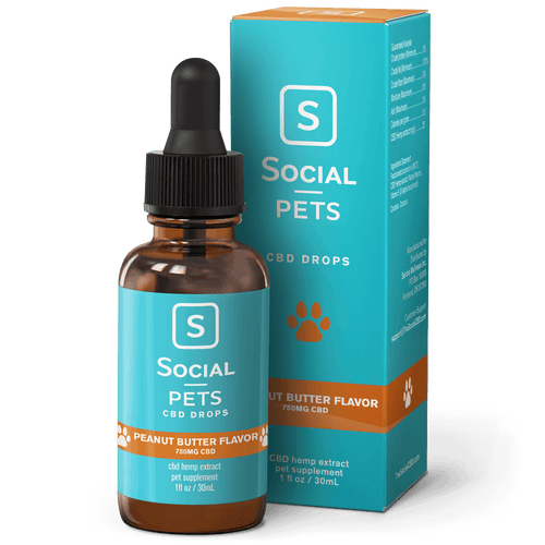 Social CBD - Pets Drops Peanut Butter Broad Spectrum 30ml