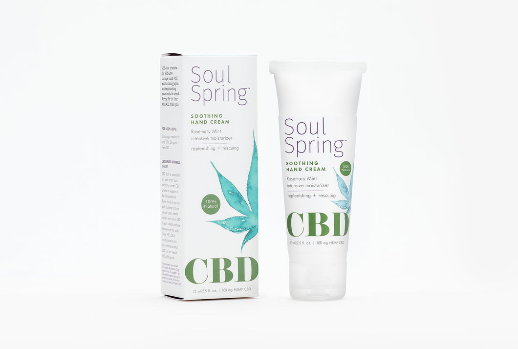 Soul Spring - CBD Hand Cream Soothing 100mg