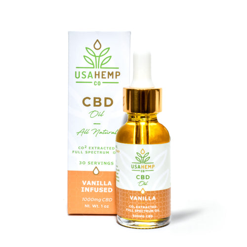 USA Hemp Co. - CBD Oil Vanilla 1000mg