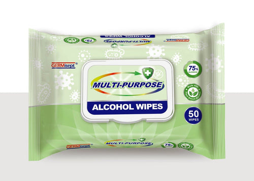 Germisept - Alcohol Wipes Multipurpose 50 Count