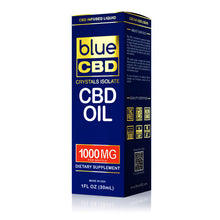 Load image into Gallery viewer, Blue CBD - Oil Crystal Isolate 1000mg (30ml)