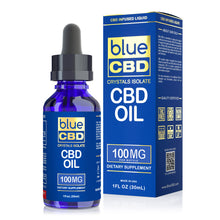 Load image into Gallery viewer, Blue CBD - Oil Crystal Isolate 100mg (30ml)