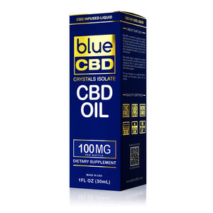 Blue CBD - Oil Crystal Isolate 100mg (30ml)