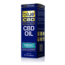 Load image into Gallery viewer, Blue CBD - Oil Crystal Isolate 150mg (30ml)