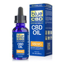 Load image into Gallery viewer, Blue CBD - Oil Crystal Isolate 550mg (30ml)