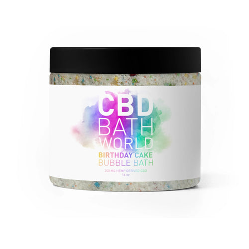 CBD Bath World - Bubble Bath Birthday Cake 200mg