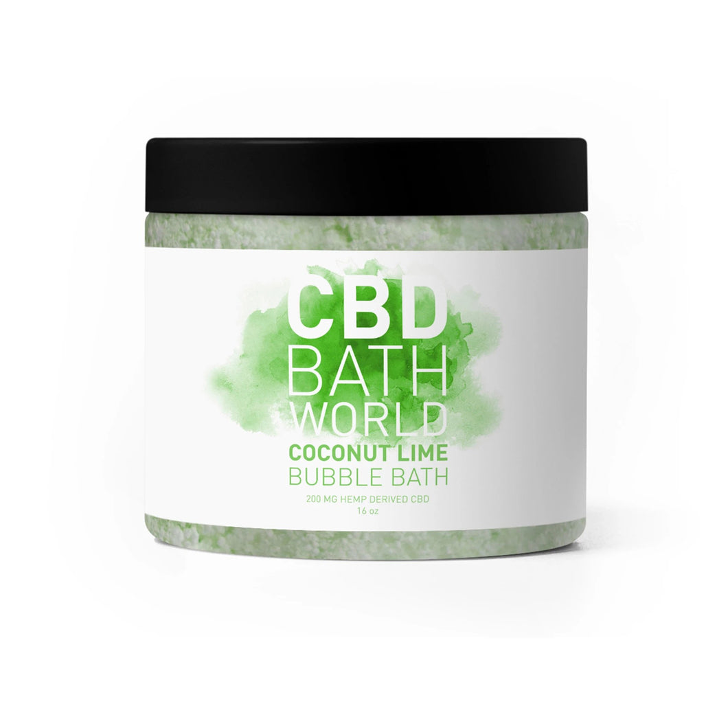 CBD Bath World - Bubble Bath Coconut Lime 200mg