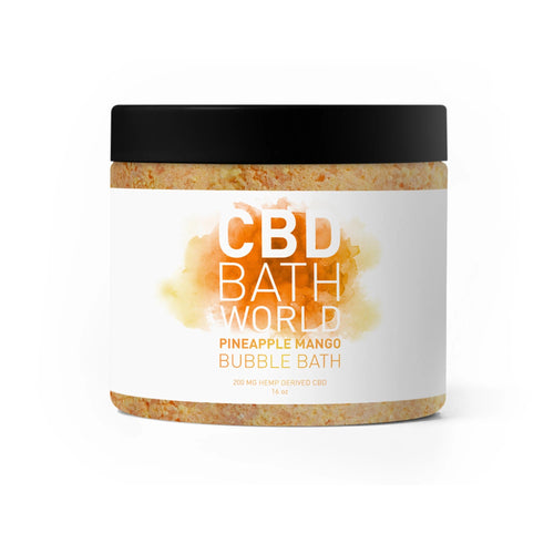 CBD Bath World - Bubble Bath Pineapple Mango 200mg