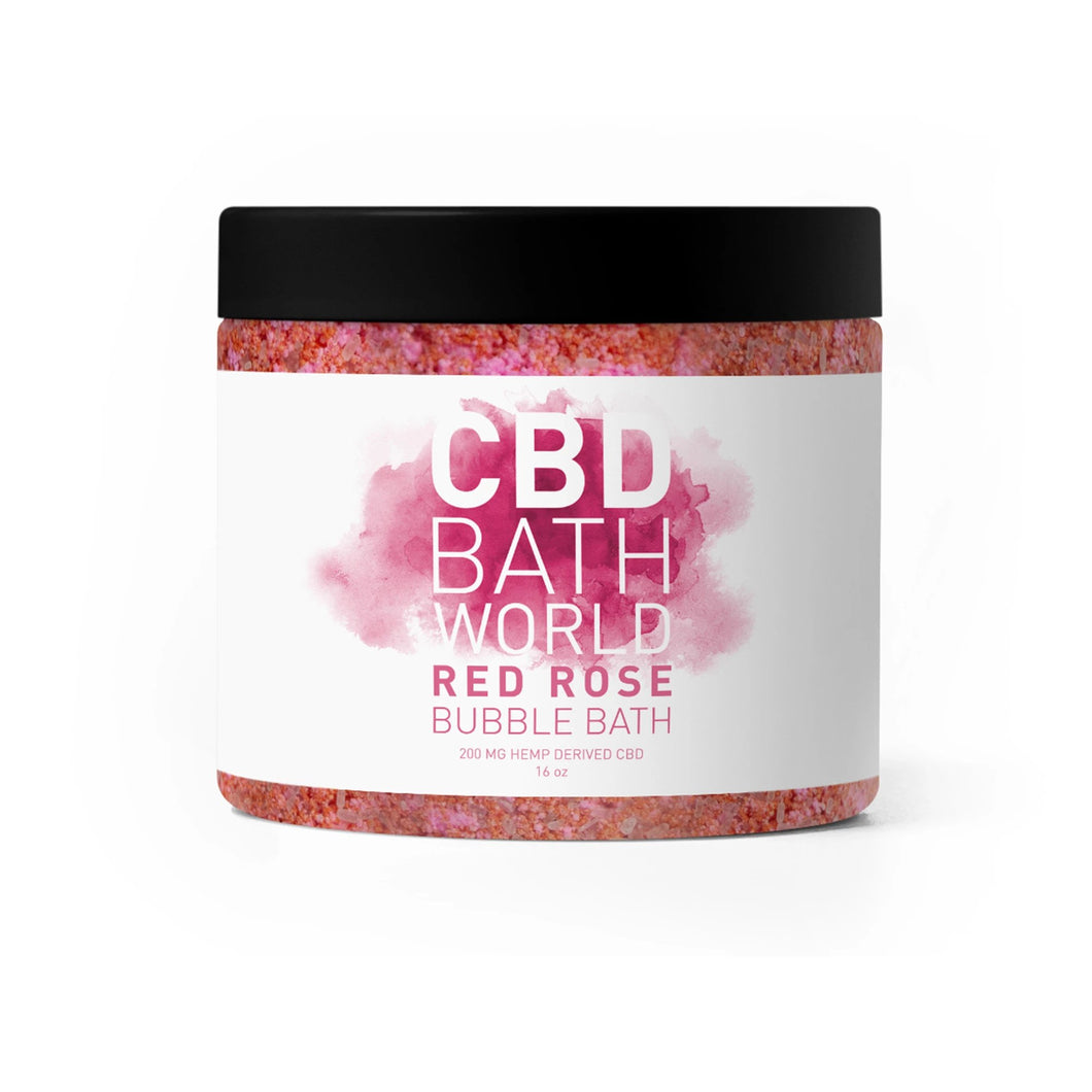 CBD Bath World - Bubble Bath Red Rose 200mg