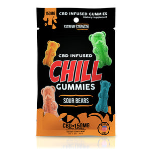 Chill - CBD Gummies Edible Infused Sour Bears 150mg
