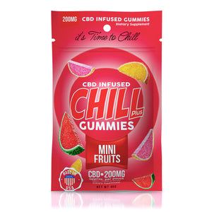 Chill Plus - CBD Infused Gummies Mini Fruits 200mg