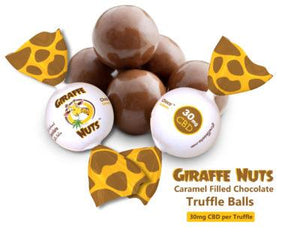 Giraffe Nuts - CBD Edible Chocolate Truffle Balls Choco Caramelo 30mg